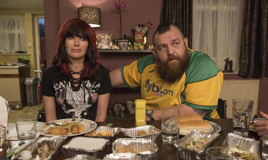 'A nimble talent for physical comedy': Lena Headey and Nick Frost in Fighting With My Family.