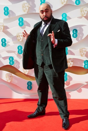 Presenter Asim Chaudhry, star of People Just Do Nothing, ahead of the Baftas.