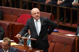 "John ""Wacka"" Williams gives his valedictory speech in the Senate"