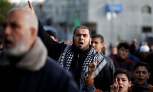 A rally in Gaza against Israel, supported by Hamas
