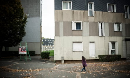 A deprived housing estate in Grigny, south of Paris, which was the scene of violent rioting in 2005.