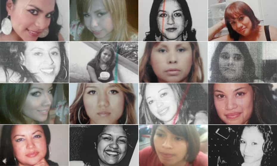 Composite of Women who have gone missing in Xalapa, Veracruz, Mexico