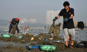 Clean-up at Versova beach.