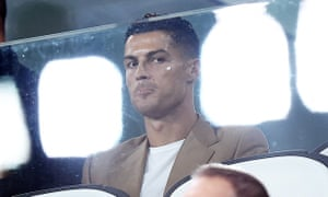 Cristiano Ronaldo in the stands during the Juventus's Champions League win over Young Boys on Tuesday.
