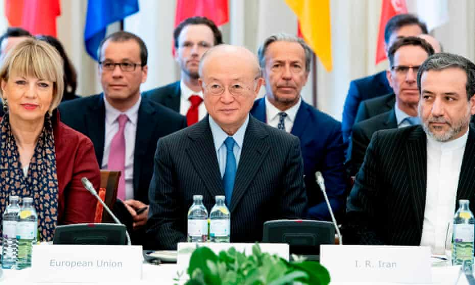 A special meeting of of parties to the Joint Comprehensive Plan of Action on Iran's nuclear deal at Coburg palace in Vienna, Austria.