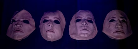 Masks worn by a four-piece 'surrogate band' who opened The Wall live show each night.