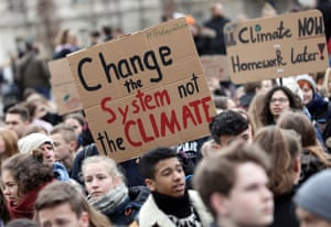 Young people take part in the worldwide climate strike in Berlin, Germany