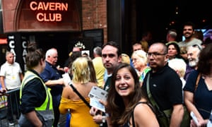 Fans make their way inside the Cavern club to watch Paul McCartney play a one-off gig at the legendary Beatles venue.