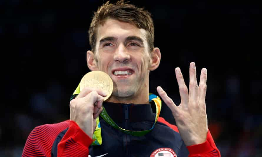 Michael Phelps is a more relaxed figure than he once was