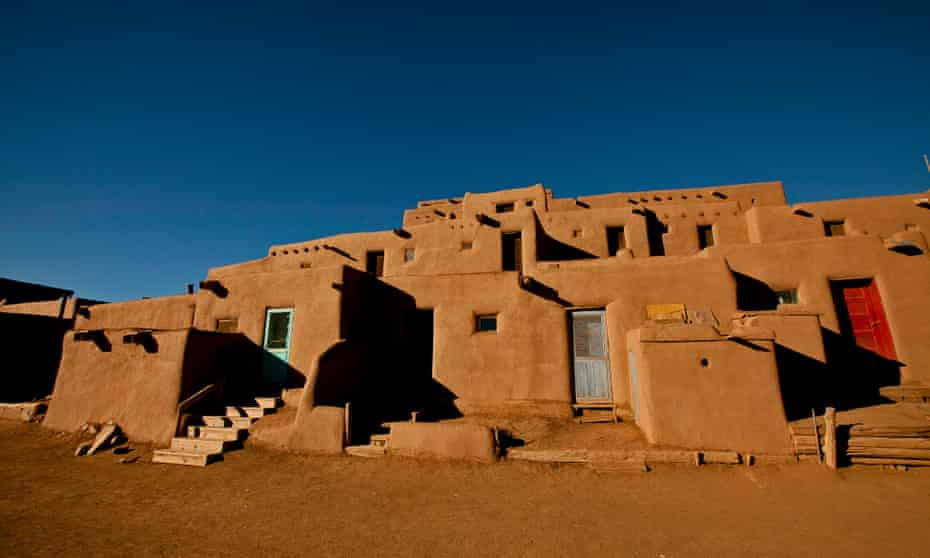 An adobe structure at the Taos Pueblo, parts of which date back to 1619.