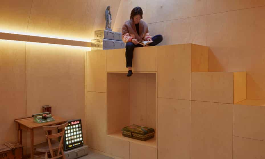 Steph Keelan in her 'bunker' in London