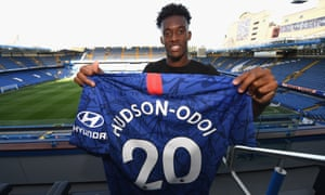 Chelsea's Callum Hudson-Odoi, pictured at Stamford Bridge on Thursday, is close to a first-team return after an achilles injury.