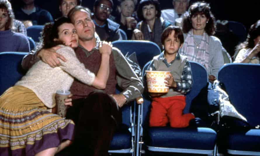 With William Hurt in 1988's The Accidental Tourist.