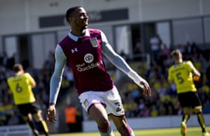 Jonathan Kodjia celebrates after his early game.