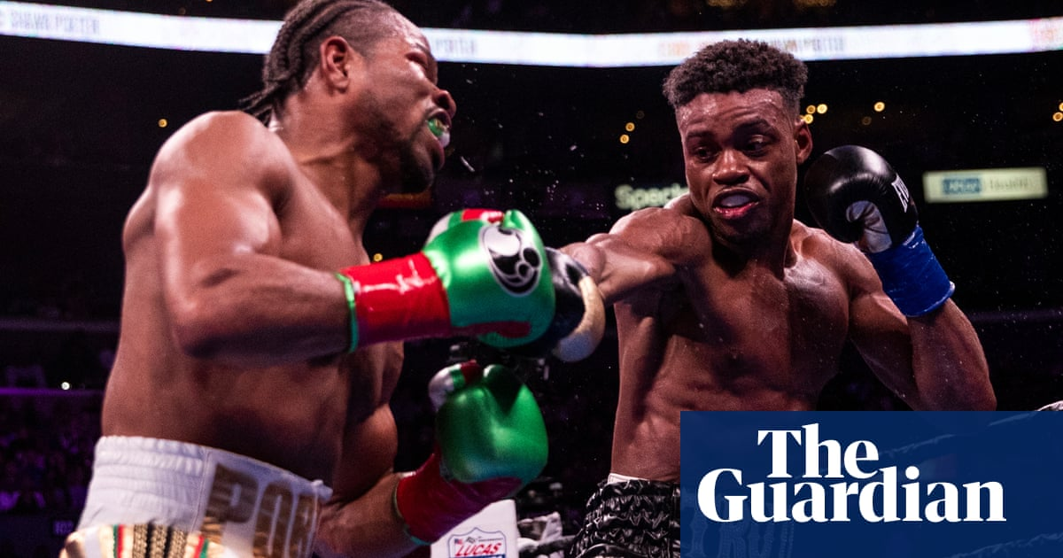 Errol Spence drops Shawn Porter in 11th to unify titles in split-decision thriller