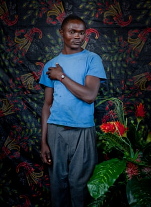 Charle Kahalalo escaped violent attacks in his village in Masisi and has been in living for a year in Bulengo IDP camp in Goma, DRC, 2014.