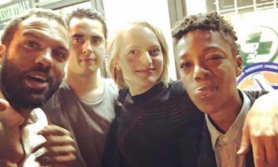Wiley with co-stars OT Fagbenle, Max Minghella and Elisabeth Moss