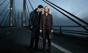 The Bridge ... Henrik Sabroe and Saga Norén.
