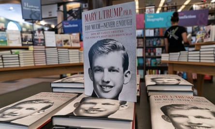 Mary Trump's new book about her uncle Donald Trump is on display on first day of sale at Barnes & Noble store on Broadway in Manhattan.