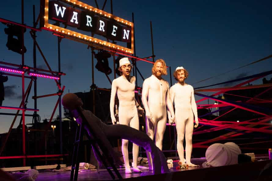 Privates: A Sperm Odyssey, one of the first performances in The Warren's outdoor season in Brighton.