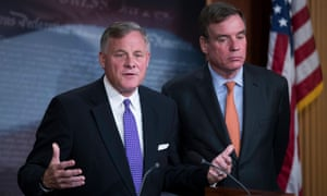 Richard Burr, pictured with Mark Warner, said: 'There is consensus among members and staff that we trust the conclusions of the ICA.'