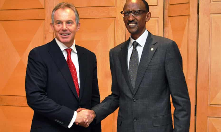 Tony Blair and Paul Kagame in Kigali in 2011