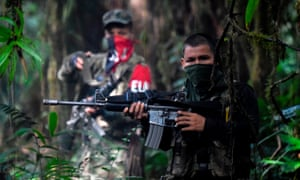 Members of the ELN in the Chocó jungle.