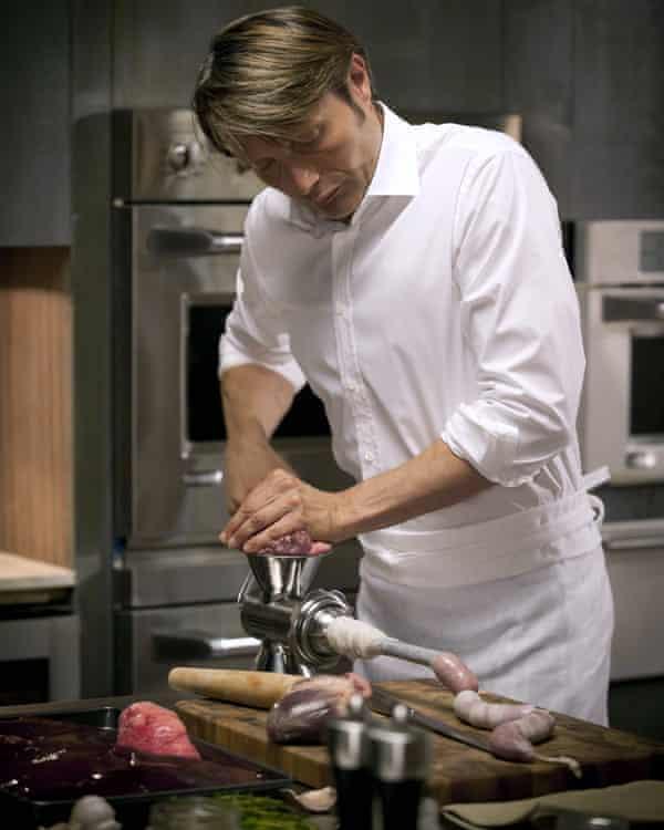 Sausage factory … Mikkelsen's Lecter preps the main.