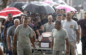 Sao Paulo, BrazilCemetery employees carry the coffin of 15-year-old Kaio Lucas da Costa Limeira, a victim of the mass shooting at the Raul Brasil State School.