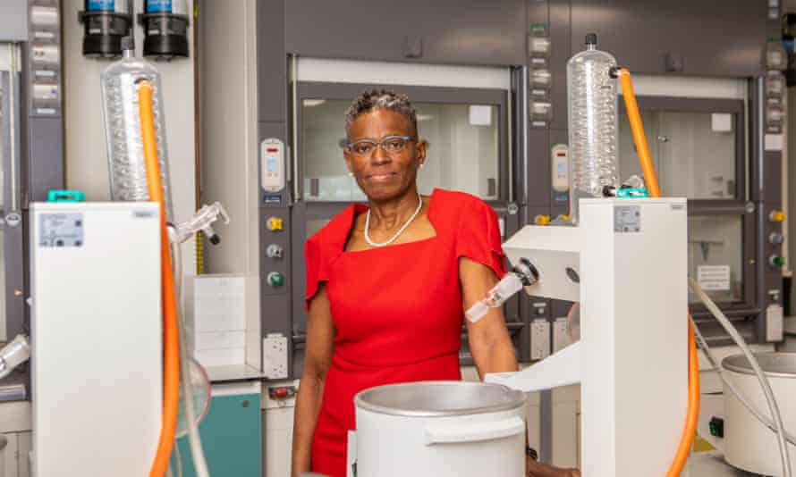 Prof Ijeoma Uchegbu at one of UCL's labs.