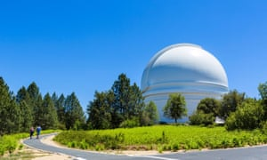 The dome of the 200 inch Hale Telescope at the Palomar Observatory, San Diego County,