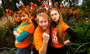 Redheads at a Ginger Pride rally