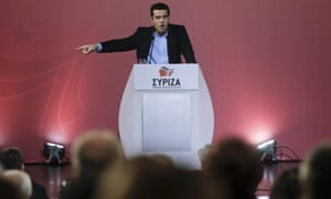 Greek prime minister Alexis Tsipras at Saturday's meeting of the Syriza central committee in Athens.
