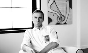 Raf Simons, in an Instagram image announcing him as chief creative officer at Calvin Klein