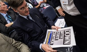 Jacob Rees-Mogg at the Conservative conference in 2017.