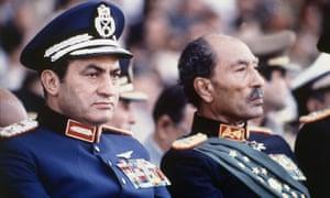 Hosni Mubarak, left, with Anwar Sadat in 1981.