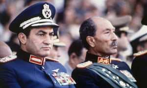Hosni Mubarak became Egyptian president in 1981 after Anwar Sadat (right) was assassinated.