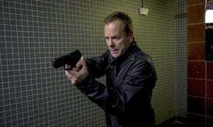 Fighting the cistern ... Kiefer Sutherland as Jack Bauer.