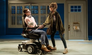Blunt humour … Jack Hunter and Emily Barber in Cost of Living.