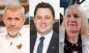 Mayoral candidates: Chris Foote Wood, Ben Houchen and Sue Jeffreys
