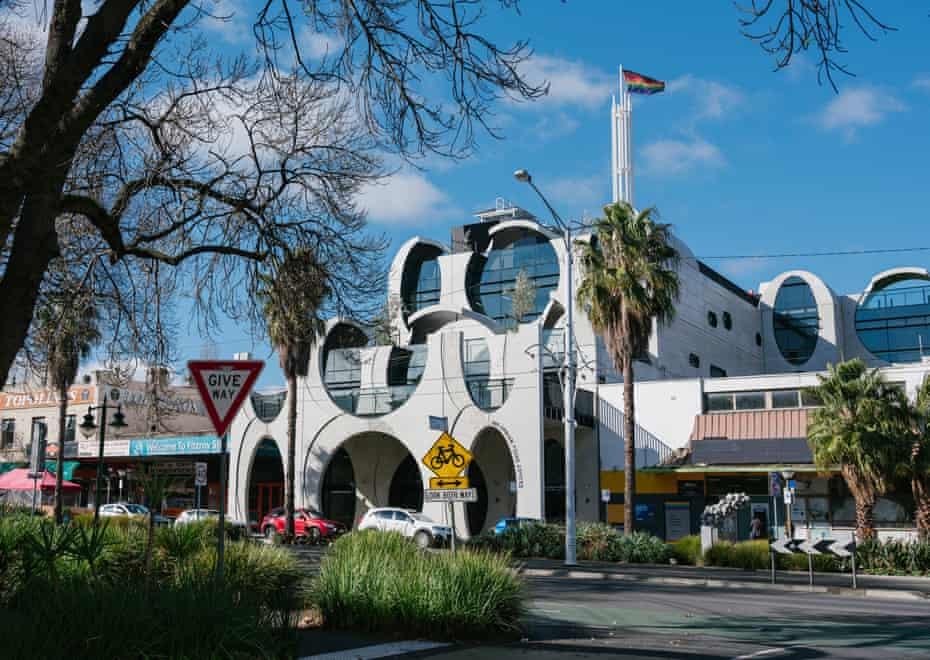 An external view of the new Victorian Pride Centre on Fitzroy Street, St Kilda