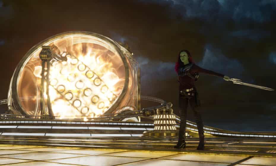 Zoe Saldana as Gamora in Guardians of the Galaxy Vol 2
