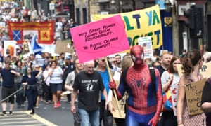 Scotland United Against Trump demonstrators march through Edinburgh to a 'Carnival of Resistance'