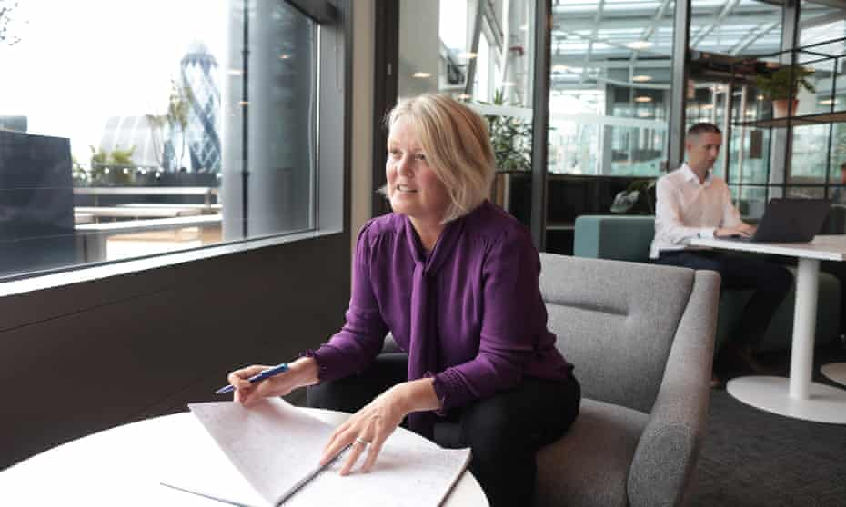 NatWest CEO Alison Rose at the revamped offices at Bishopsgate, in the City of London.