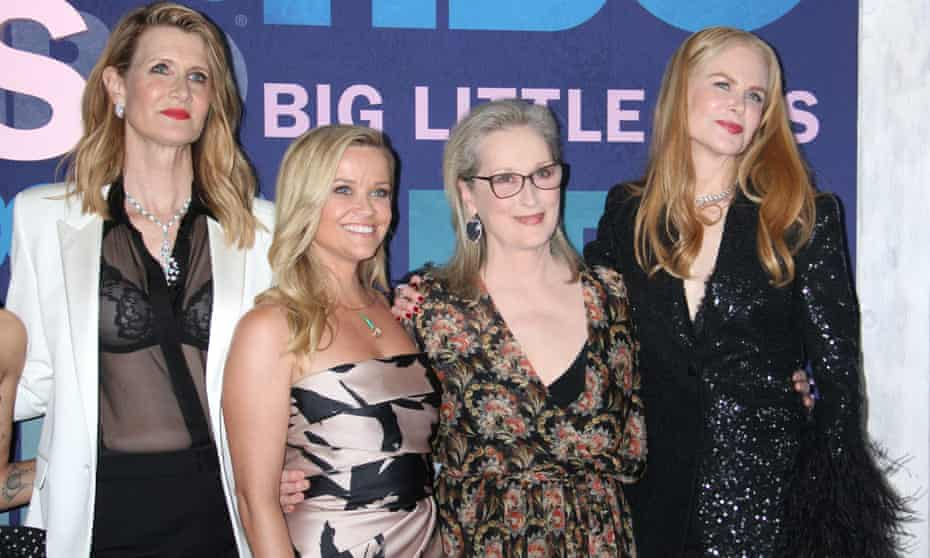 Streep with her Big Little Lies co-stars Laura Dern, Reese Witherspoon and Nicole Kidman.