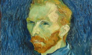 Self Portrait by Vincent van Gogh, one of the exhibition paintings.