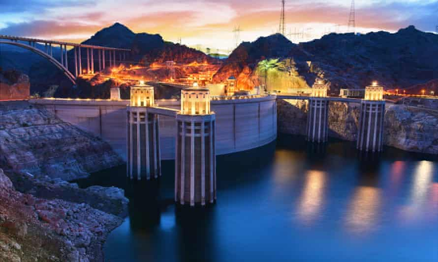 The Hoover Dam in Boulder, Nevada