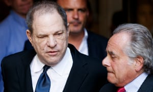 Harvey Weinstein with attorney Benjamin Brafman outside a New York court in July.