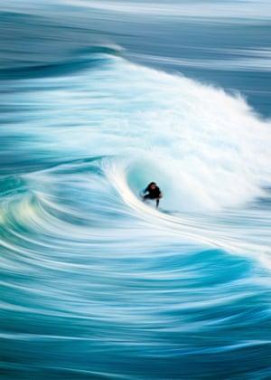 Surfer at City Beach, Wollongong