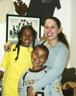 Kathi Bliss with her daughter and son, Airian Holly (left) and Mercedes Williams (right). Both children were shot to death while visiting family in Richmond in the California Bay Area.